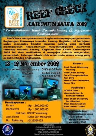 Reef Check Karimunjawa 2009